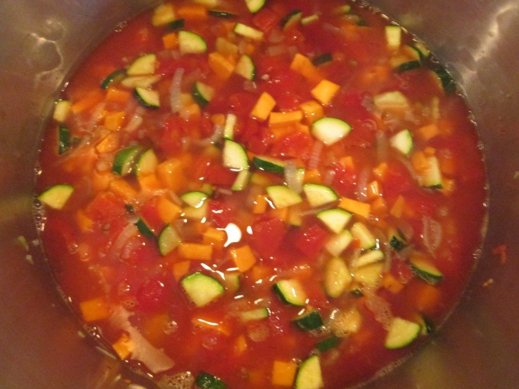 Gypsy Sweet Potato Tomato Soup Recipe  - 6 add toamtoes potatoes peppers
