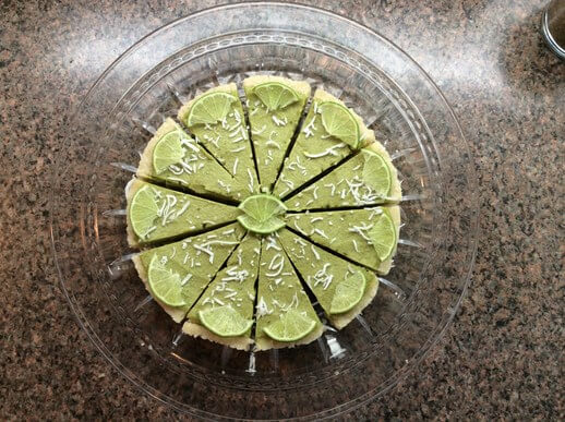 Raw key Lime Pie