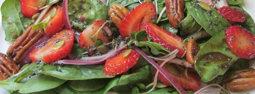 strawberry pecan salad crop