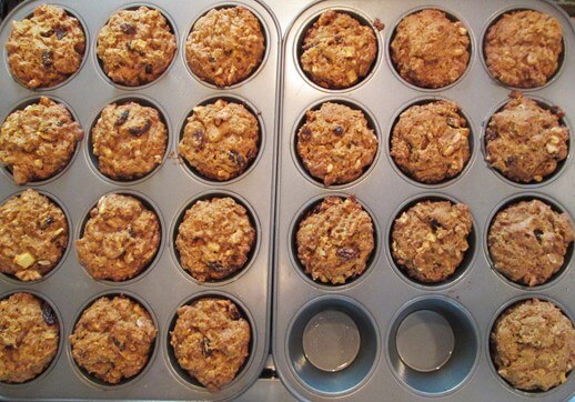 Healthy Leftover Oatmeal Muffin Recipe 0