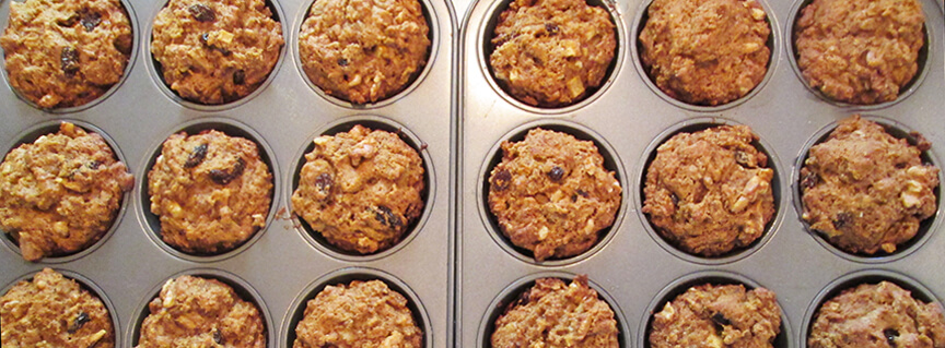 Healthy Leftover Oatmeal Muffin Recipe and Fall Trail Walk