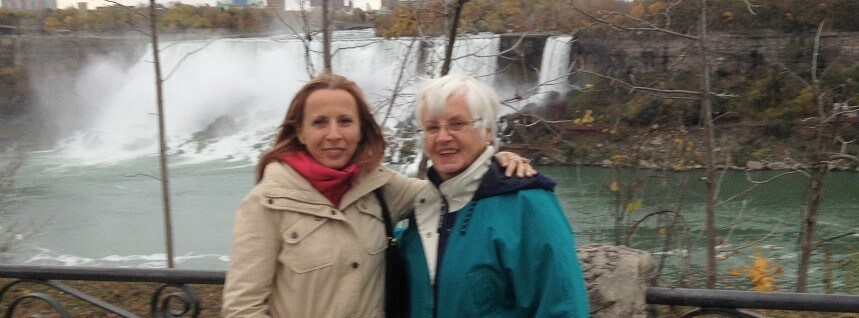 Mom and I at Niagara Falls (2)